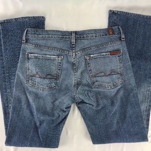 7 for All Mankind Boycut Button Fly Women's 28
